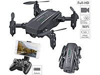 Simulus Faltbarer FPV-Mini-Quadrocopter, Full HD, WLAN, App, 5-MP-Sensor, 50 m