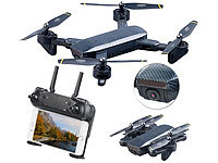 Simulus Faltbarer WiFi-FPV-Quadrocopter, HD-Cam und VGA-Cam, Optical Flow, App